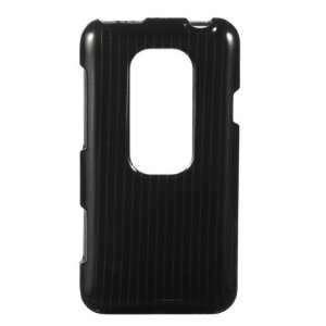 HTC EVO 3D (Sprint) Elegant Black Silver Line Premium Snap On Phone