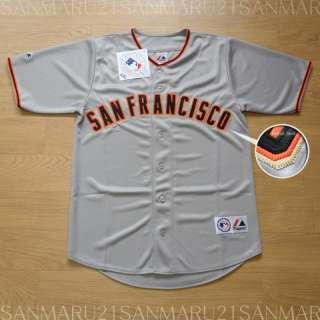 San Francisco Giants Majestic SEWN jersey Gray XL NWT