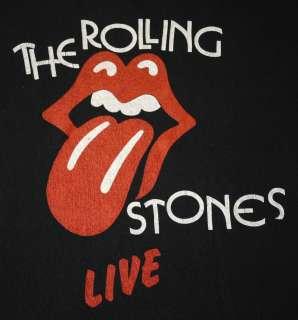 ROLLING STONES vintage 1982 European tour shirt Rock Concert