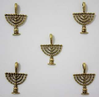 Lot   5 Hanukkah Menorah Israel Jewish Judaica Pendants   DIY Jewelry