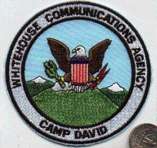 USMC ARMY MILITARY PATCH CAMP DAVID MARYLAND PRESIDENT
