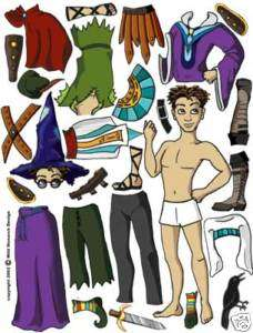 Halloween Costumes MAGNETIC PAPER DOLL Lots of Clothes