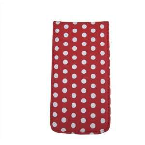 HK Red with white POLKA DOTS Point Flip protective