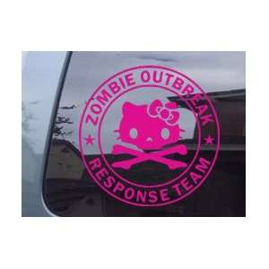 Hello Kitty Zombie Outbreak Response Team Pink Vinyl Decal