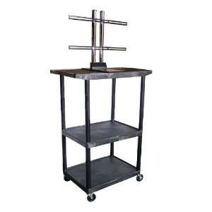Luxor 54 inch Mobile Plasma or LCD Table Top Stand (Black