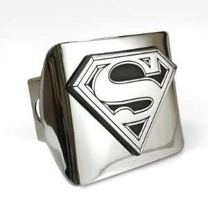 Superman Emblem Chrome Metal Hitch Cover Automotive