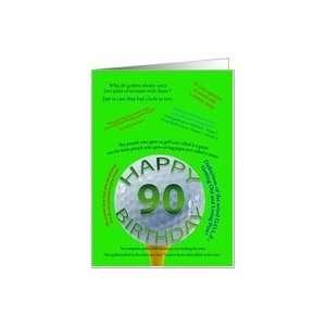 90th birthday golf jokes Card: Toys & Games