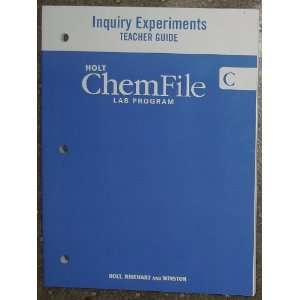 ChemFile Lab Program Inquiry Experiments Teacher Guide B