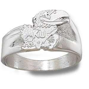 University of Kansas Jayhawk Ring Sz 10 (Silver)