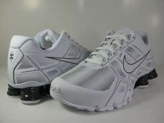 NIKE SHOX TURBO XII SL WHITE/ANTHRACITE GREY  472531 100  MENS RUNNING