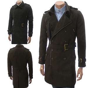 Unghea Mens Casual Double Breasted Zip Coat (GA16)