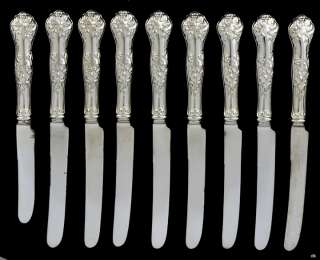 Smith/Webster & Sons Silver Plated Holly Fruit Knives