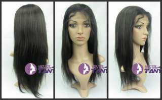 Silky Straight 16 _ Indian Remy Human Hair Full Lace / Front Lace Wig