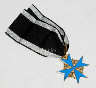 WWI GERMAN ARMY BLUE MAX MEDAL BADGE WITH RIBBON AND BOX  31936