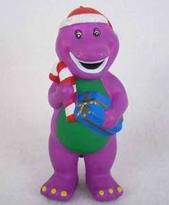 Barney & Friends 4 1/2 Christmas Figure Rare