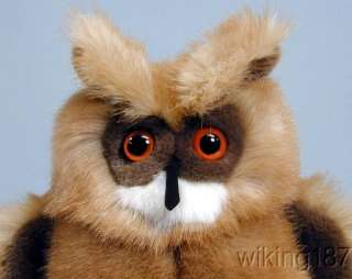 KOSEN MADE in GERMANY NEW Eagle Owl PLUSH TOY