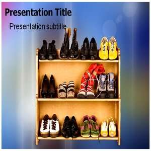Template   Footwear PowerPoint (PPT) Backgrounds Templates Software