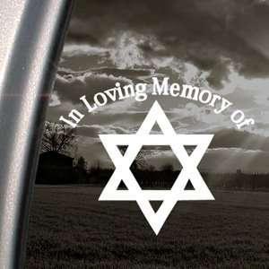 In Loving Memory Star David Decal Window Sticker