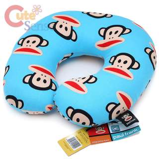 Paul Frank Neck Rest Pillow Travel Cushion  Cotton Sky Blue Kids to