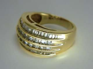DIAMOND WEDDING BAND or ANNIVERSARY COCKTAIL RING Yellow Gold
