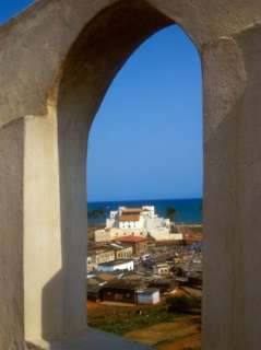 St Georges Castle Through Arched Window at St Jago Fort, Elmina