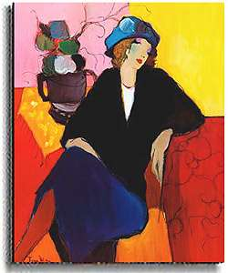 Itzchak Tarkay Suzanne Stretched Canvas Art