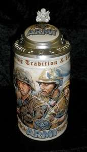 Budweiser Beer Stein 1999 Military Series, ARMY