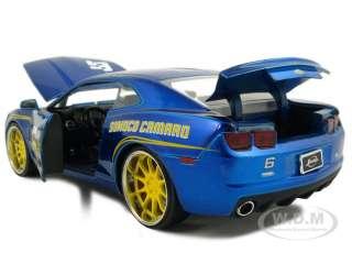 2010 CHEVY CAMARO SS #6 SUNOCO BLUE 124 DIECAST