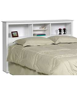 Winslow White Full/ Queen size Storage Headboard