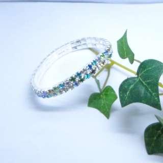 Rhinestone Wedding Party Stretch Bangle Bracelet Bling Jewelry