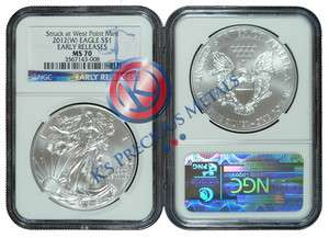 American Silver Eagle $1 NGC MS70 MS 70 Early Releases (Blue Label