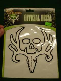 Bone Collector Logo 5x5 White Skull Decal NEW