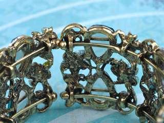 like Blue Zircon Crystal Rhinestone Flower Fields Garden Bracelet Cuff