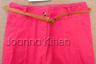New Fashion Women's Casual Pants with Belt 4 Size
