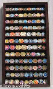 Large, Military Challenge Coin Holer / Display Case Shadow Box Cabinet