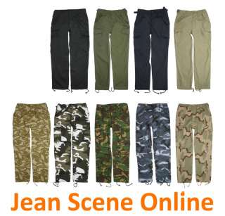 New Mens Military Army Cargo Camo Combat Trousers Pants