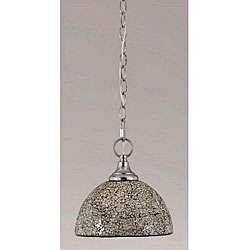Mosaic Brushed steel Mini Pendant Light