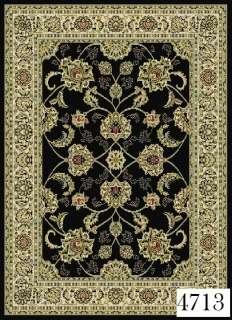 Oriental Persian Black Design Area Rug Carpet (BEST 4 SIZES 2X8, 4X6