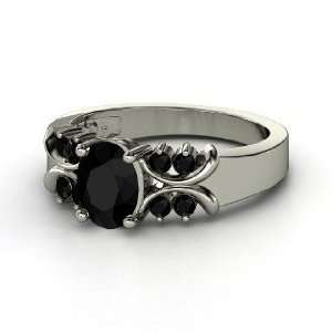 Gabrielle Ring, Oval Black Onyx Sterling Silver Ring Jewelry