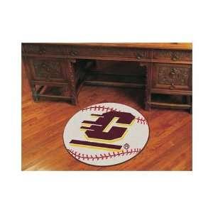 Central Michigan Chippewas 29 Round Baseball Mat Sports