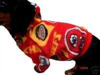 Dog Sweater, Jacket, Fleece Kansas City Chiefs XSMALL