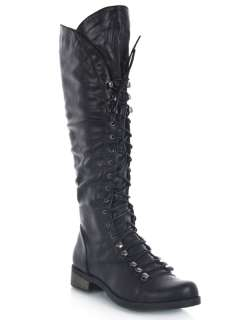 NEW BAMBOO Women Casual Lace up Knee high Military Riding Boot sz