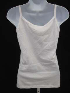 ANNA SUI White Embellished Tank Top Shirt Sz M