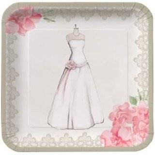 Antique Bridal Shower 7 inch Deep Dish Paper Plates 8 Per Pack