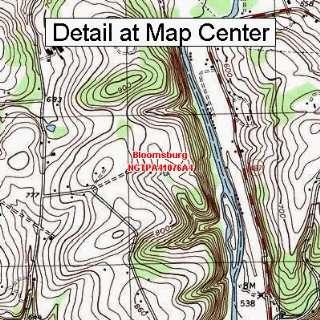 USGS Topographic Quadrangle Map   Bloomsburg, Pennsylvania