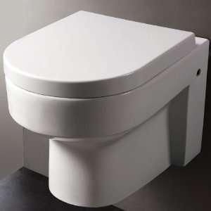 EAGO WD101 Round Modern Wall Mount Dual Flush Toilet