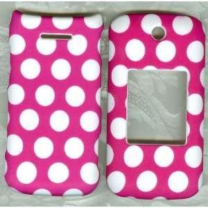 PINK WHITE DOT LG WINE II UN430 FACEPLATE PHONE PHONE
