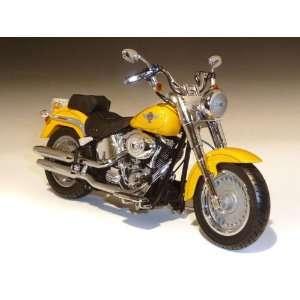 2011 Harley Davidson FLSTF Fat Boy 1/12 Chrome Yellow