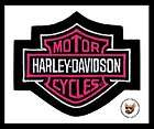 HARLEY DAVIDSON PINK BAR & SHIELD LADIES VEST JACKET PATCH **NIP
