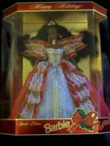 NEW 1997 Happy Holiday Barbie Doll NIB African American